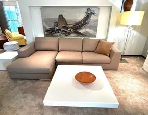 Divano con penisola tessuto in poliuretano  Primafila divani in Offerta Outlet