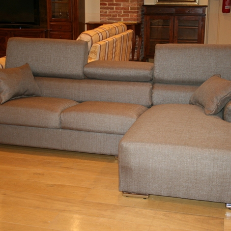 Divano con penisola tessuto divani a prezzi scontati - Divano letto con penisola prezzi ...