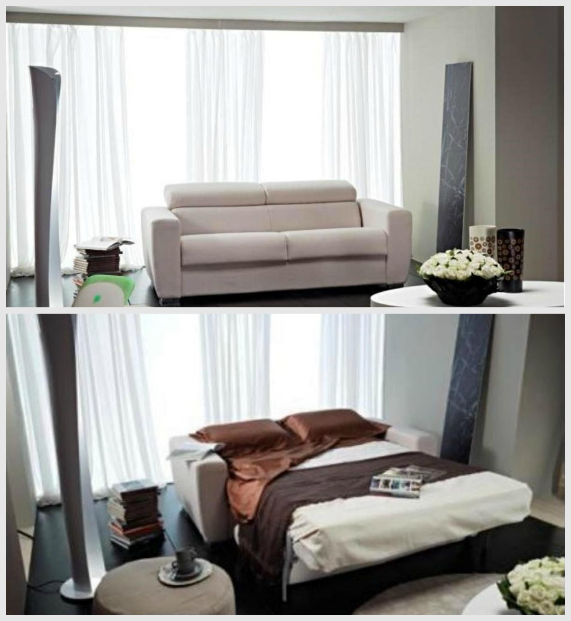 Divano con schienale reclinabile e divano letto estraibile for Letto con testata reclinabile