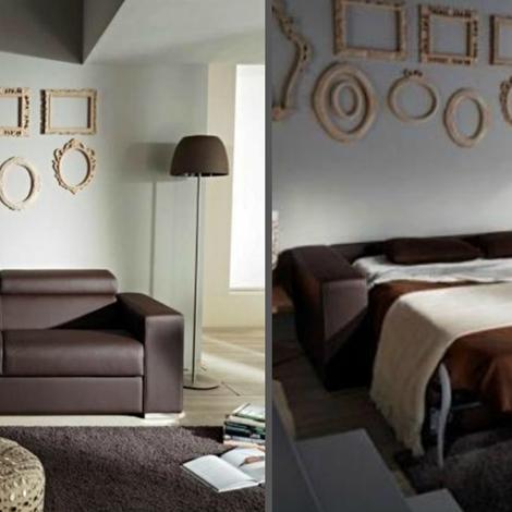 Divano con schienale reclinabile letto estraibile con materasso in memory divani a prezzi scontati - Divani con letto estraibile ...