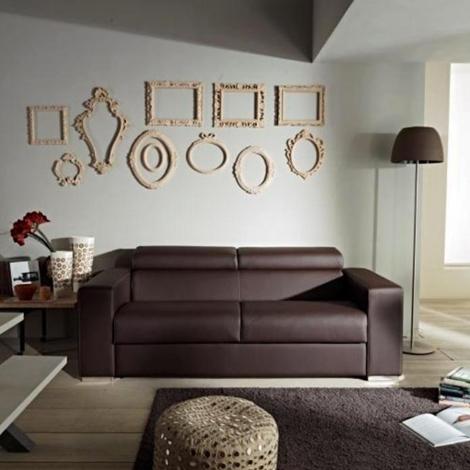 Divano con schienale reclinabile letto estraibile con for Letto con testata reclinabile