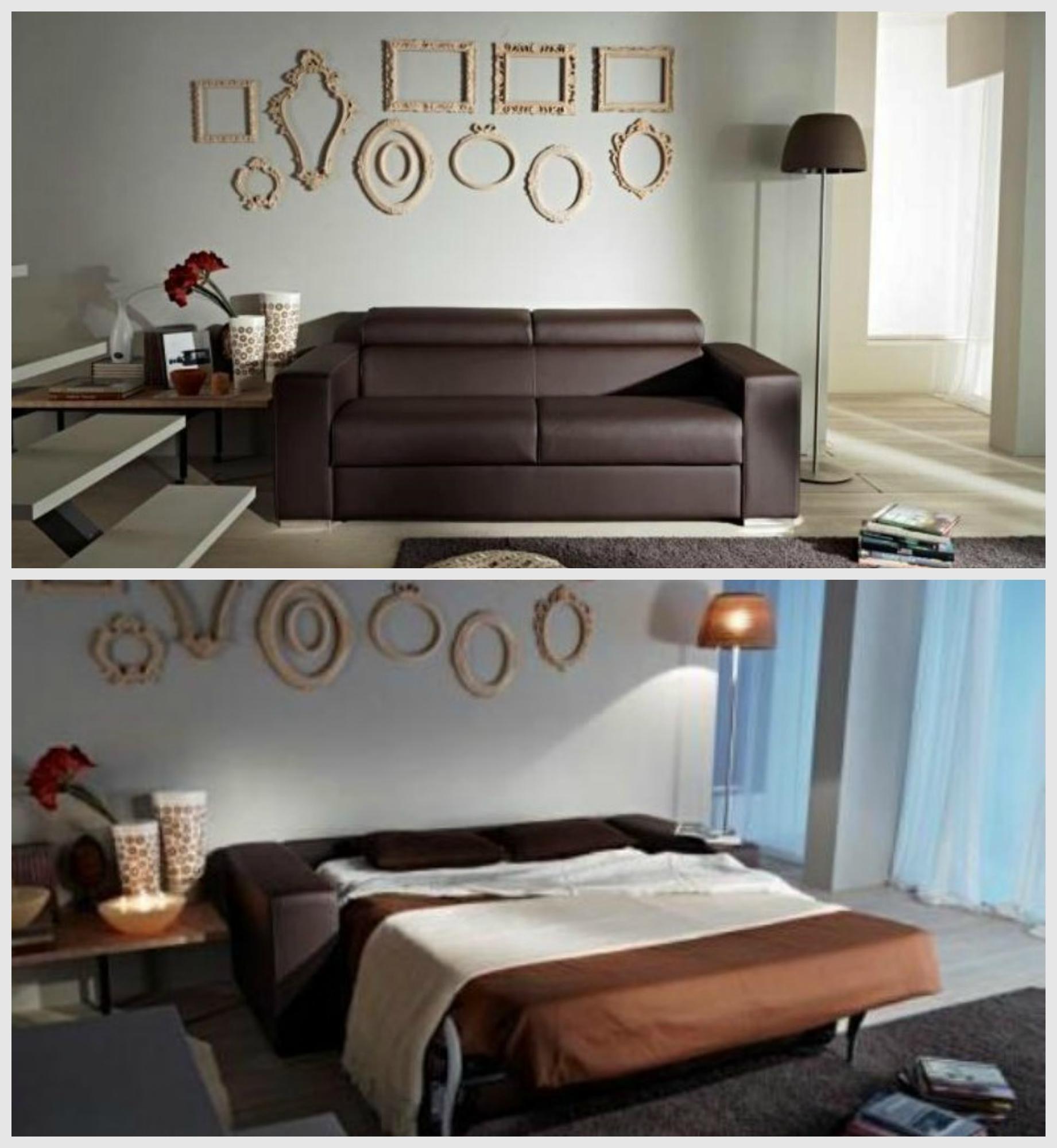 Divano con schienale reclinabile letto estraibile con for Letto estraibile prezzi