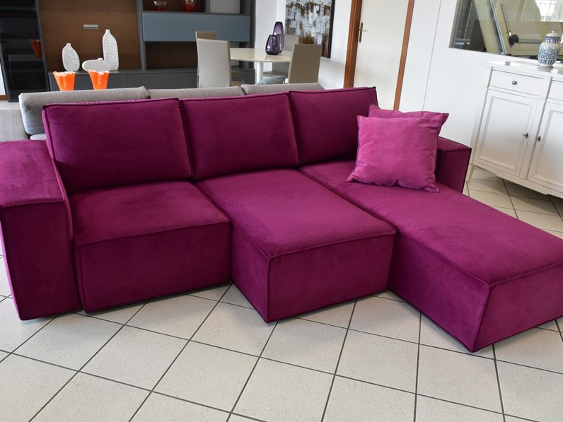 divano con seduta allungabile drop di samoa con penisola