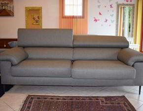 Divano moderno in tessuto con sedute estraibili e schienali reclinabili