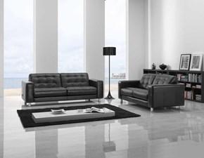 Divano Coppia di divani mod.dubai rivestiti in pelle spessorata in promo-scontati del 40% Artigianale: SCONTO ESCLUSIVO