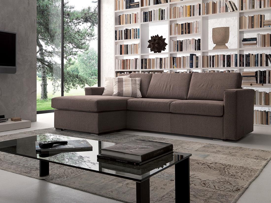 Divano crippa divani letti divano con penisola reversibile for Divano 2 posti penisola