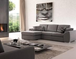 Divano Crippa divani&letti Giada con penisola Tessuto