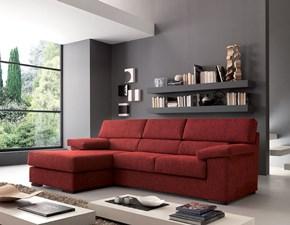 Divano Crippa divani&letti Quarzo con penisola Tessuto