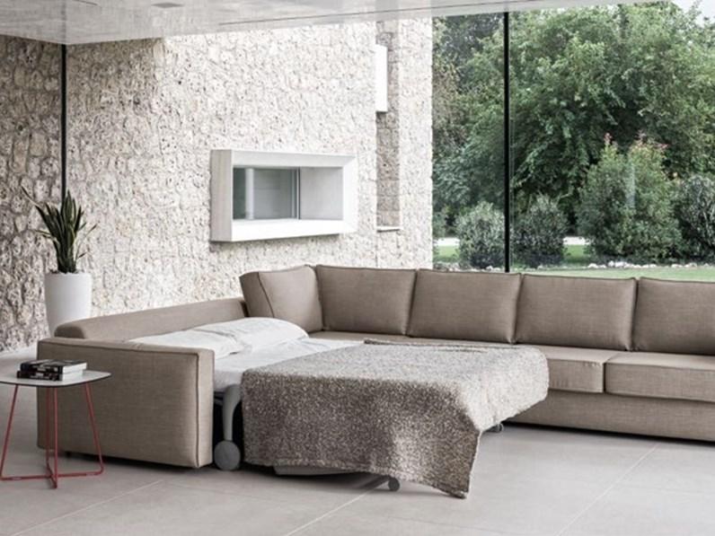 Divano design maxi anglare con letto o senza - Divano letto senza materasso ...