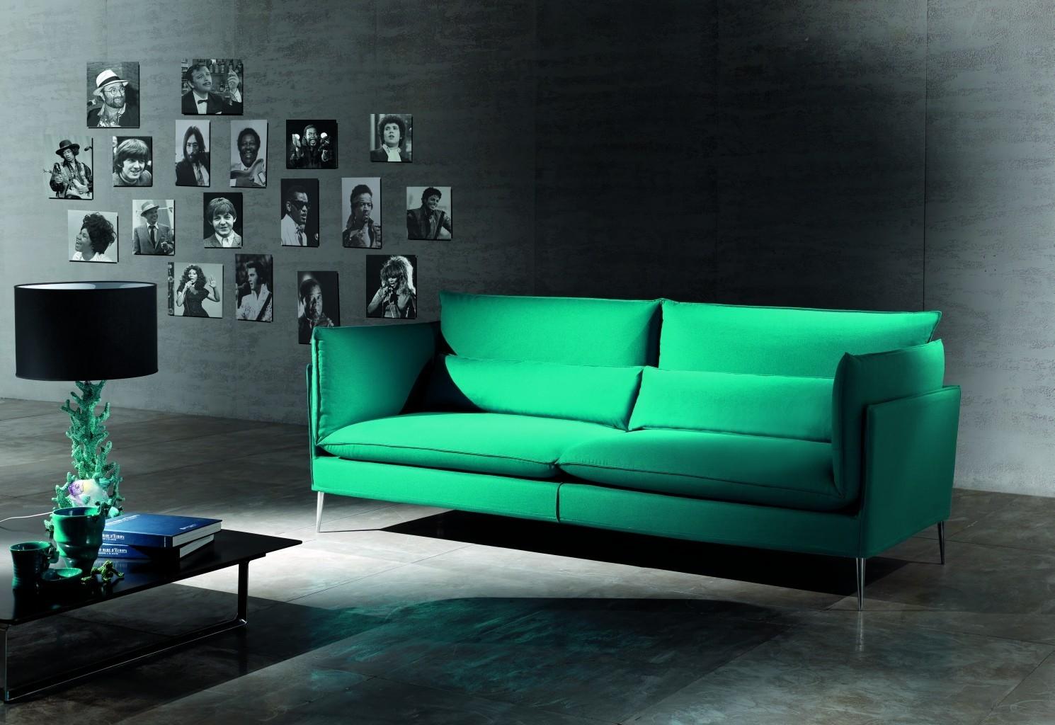 Divano di Design Mod. Natalie Angolare in Tessuto Bianco scontato ...