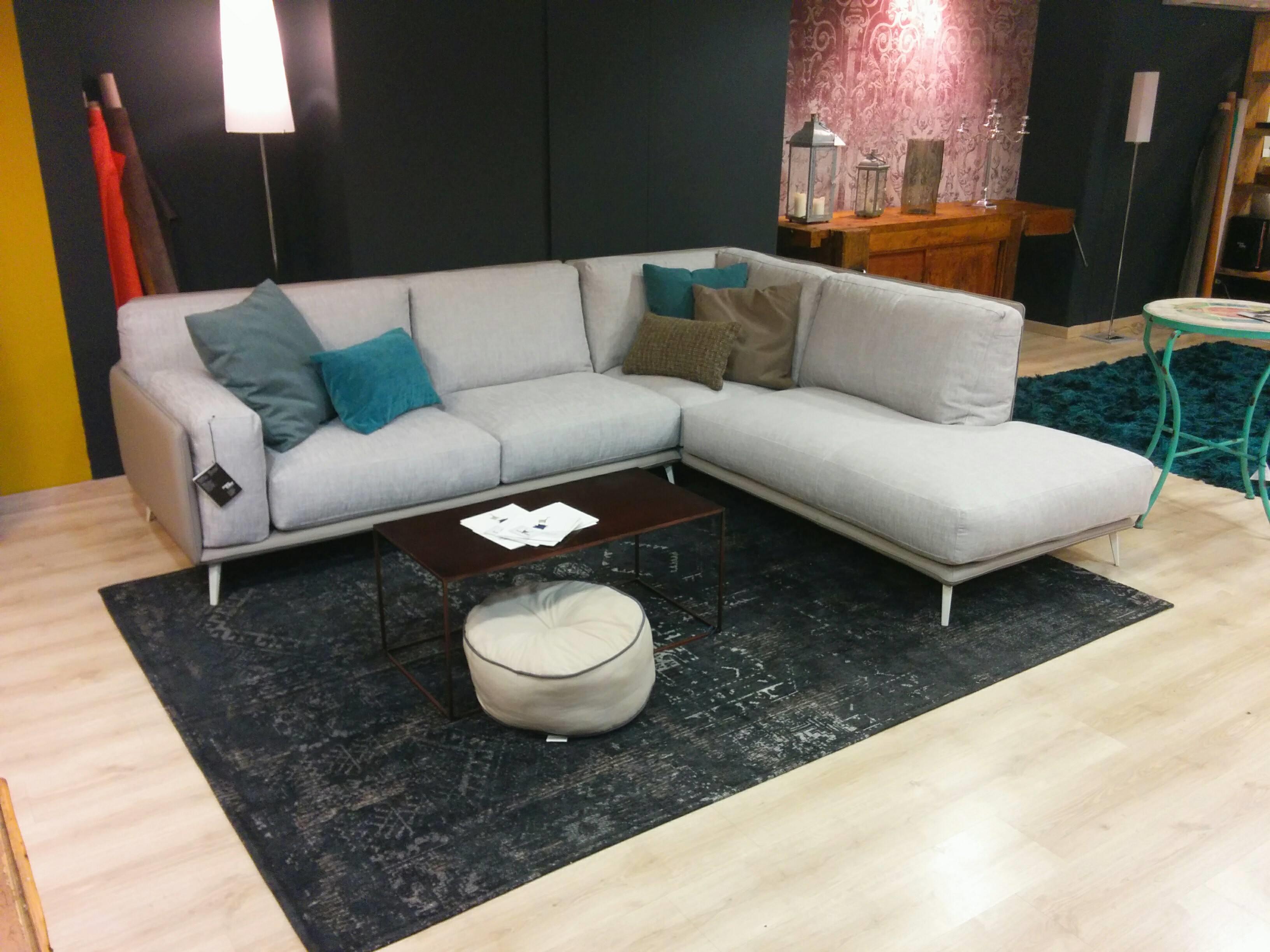 Offerta divano ditre italia kris angolare pelle tessuto - Offerta divano angolare ...