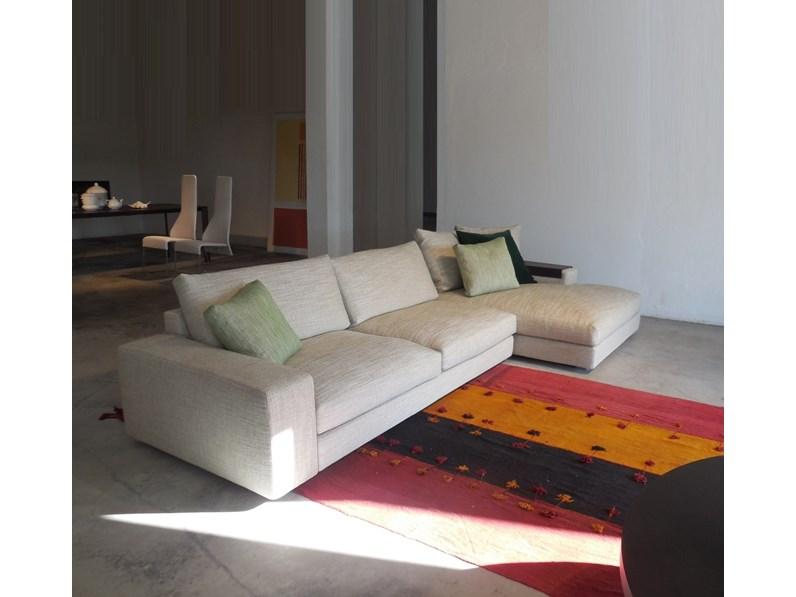 Divano divano con penisola holden verzelloni in offerta outlet - Divano penisola offerta ...