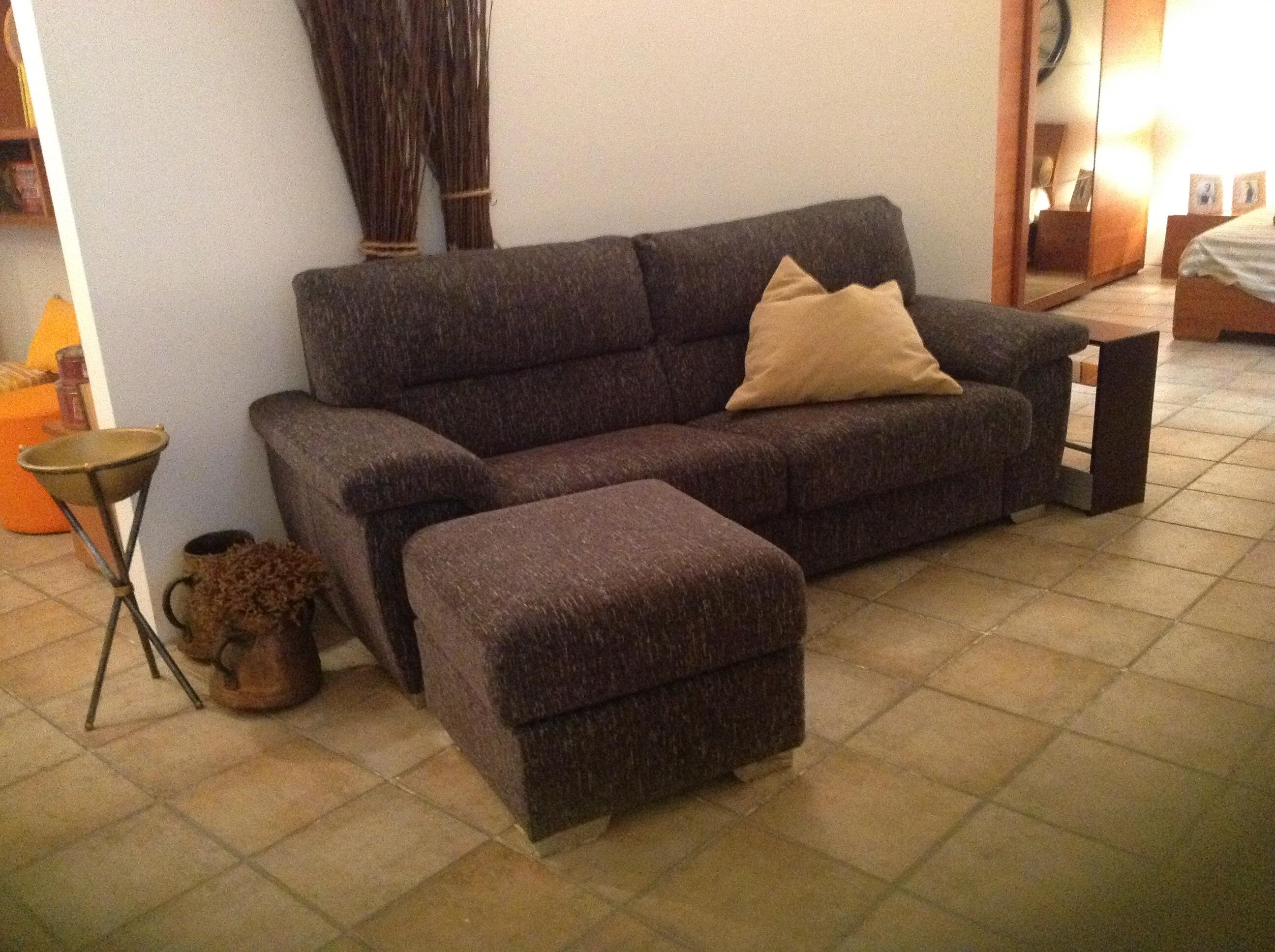 Divano donati divano tessuto divani a prezzi scontati - Divano con pouf ...