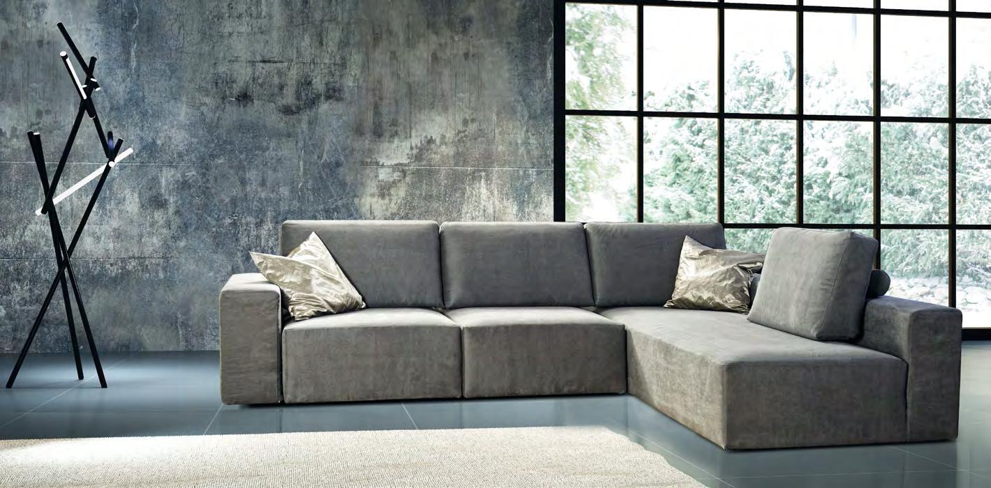 Errebi divano glide con sedute estraibili divani a for Divano angolare tessuto prezzi