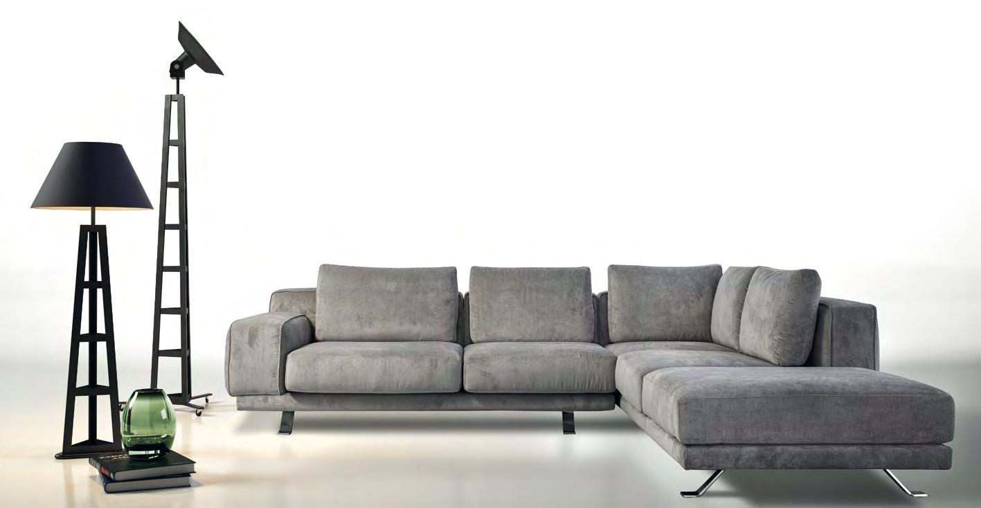 Divano errebi magnum divano angolare in tessuto divano 4 - Divano angolo letto ...