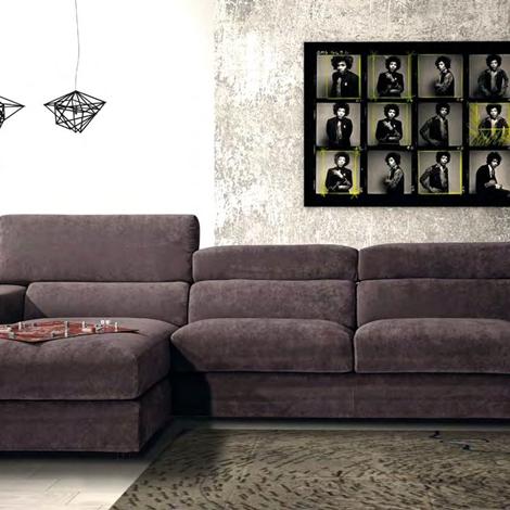 Errebi divano star divani con chaise longue tessuto - Divano due posti con chaise longue ...