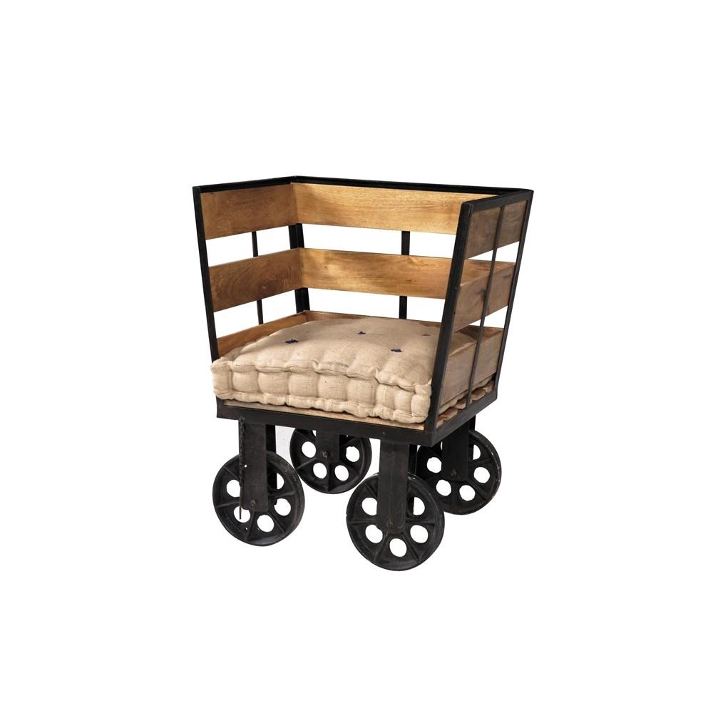 Divano etnico outlet divano industrial con ruote struttura for Etnico outlet