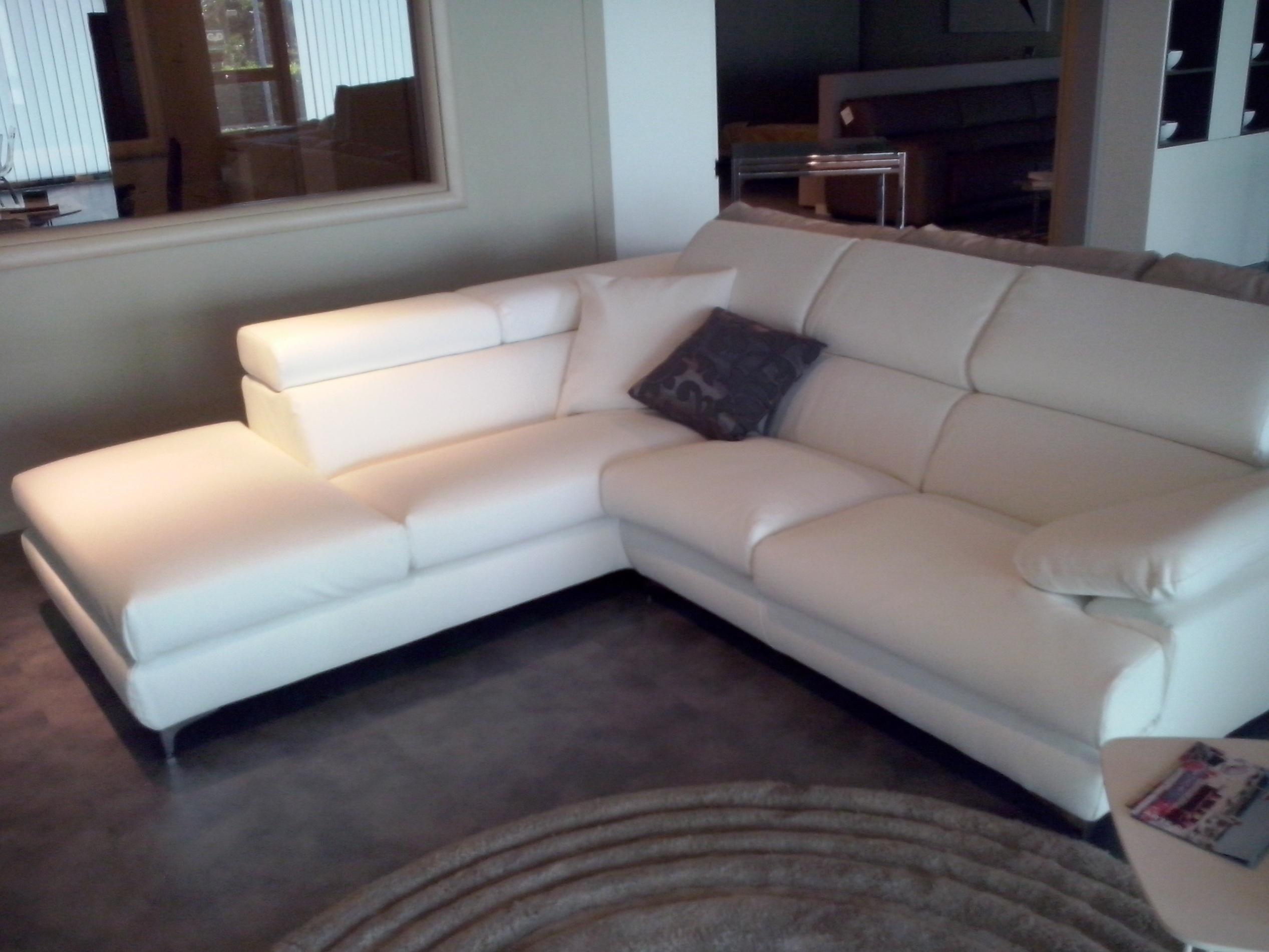 divano excò divano in pelle ad angolo - divani a prezzi scontati - In Pelle Bianca Divano Ad Angolo Design