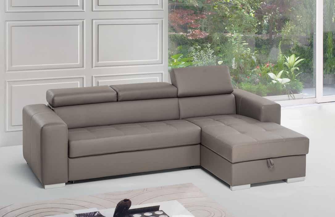 Divano gm mobili divano 3 posti letto con chaise longue - Dimensioni divano con isola ...