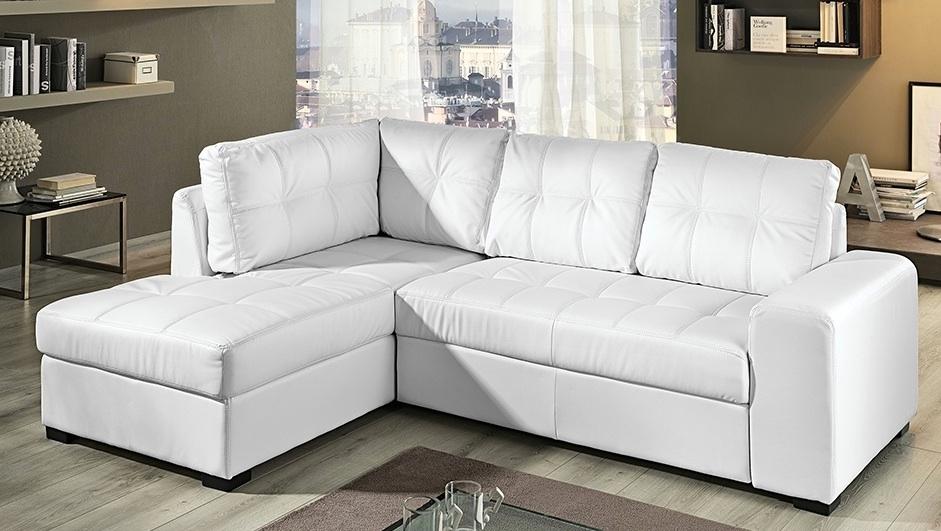 divano pelle bianco arredamento : Divano Sollievo Ecopelle - Divani a prezzi scontati
