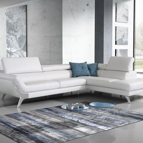 Divano in pelle angolare modello target di polyform italia a prezzo scontato divani a prezzi - Rivestire divano in pelle ...