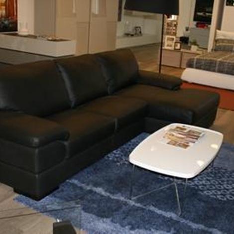 Divano in pelle nero primula divani a prezzi scontati - Divano in pelle nero ...
