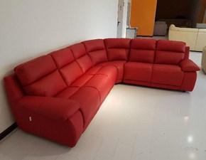 Outlet divani pelle sconti fino al 70 - Divano in pelle rosso ...