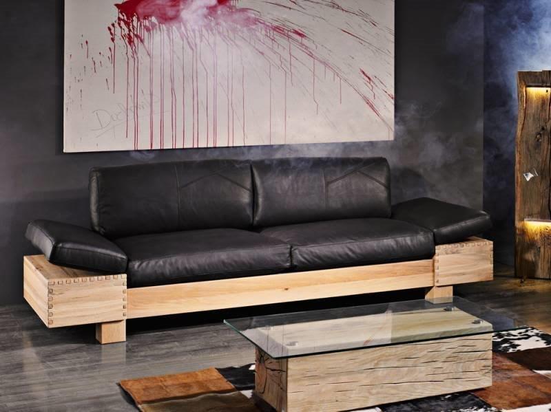 Divano in pelle telaio rovere offerta outlet divani a for Divano frau outlet