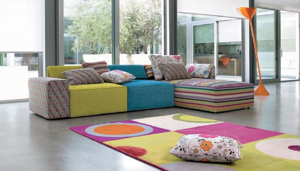 Divano in tessuto interscambiabile divani a prezzi for Sofas por modulos baratos