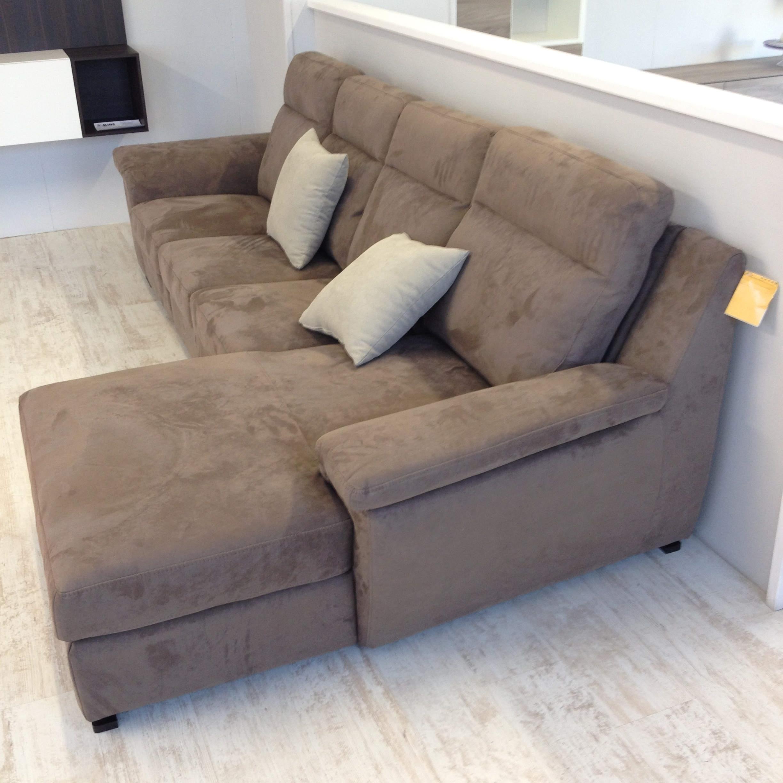 Divano lecomfort 3 posti con chaise longue ecopelle 23 - Chaise longue divano ...
