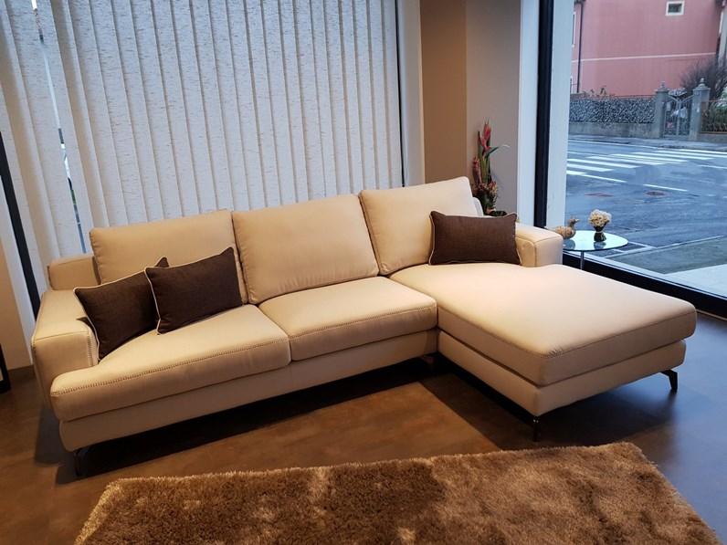 Lecomfort divano modello nixon divani con chaise longue divani a prezzi scontati - Misure divano con chaise longue ...