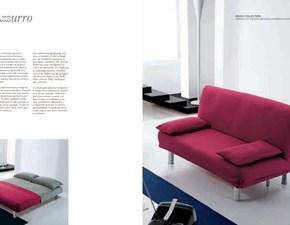 Divano-letto Bonaldo modello Azzurro. Divano letto con struttura in metallo e rivestimento in tessuto.