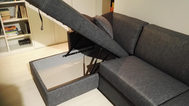 Divano letto con penisola prezzo promo divani a prezzi for Divano con penisola contenitore
