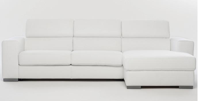 Divano divano letto con penisola divani con chaise longue for Lunghezza divano letto