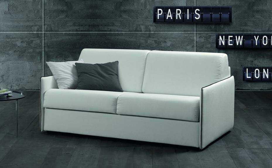 Divano letto di design mod lollo in tessuto bianco scontato del 50 divani a prezzi scontati - Divani letto di design ...