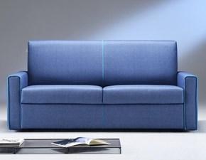 Divano letto Family Bedding modello Break. Divano a tre posti maxi che si trasforma in un comodo letto in tessuto completamente sfoderabile. Colori in contrasto.