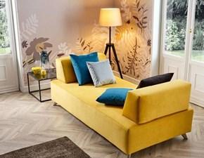 Divano letto in Ecopelle Moretti compact a prezzo ribassato