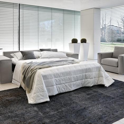 Letto pelle ovvio idee creative di interni e mobili - Divani letto in pelle ...