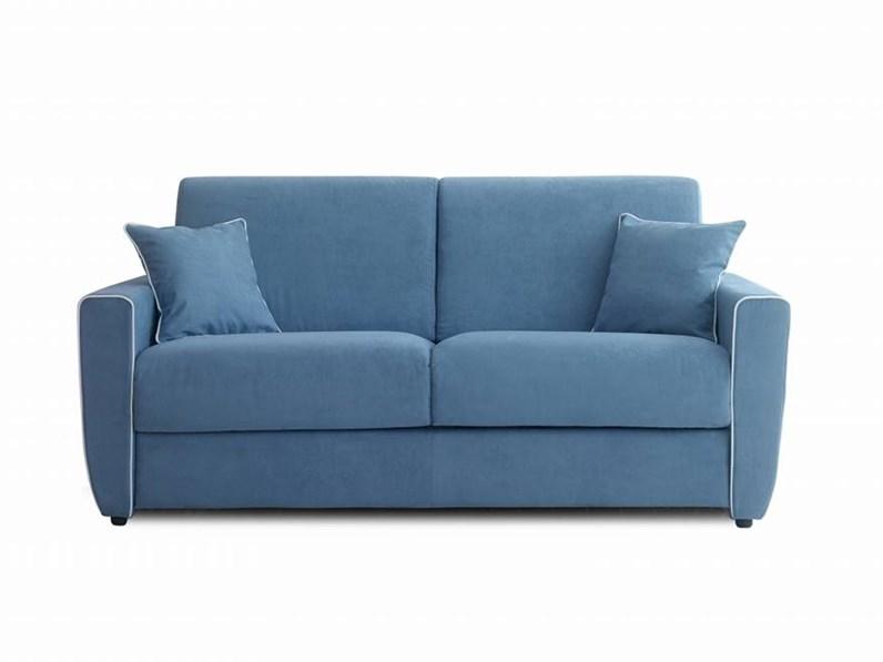 Divano letto in tessuto aerre salotti a prezzo scontato for Piccoli divani letto