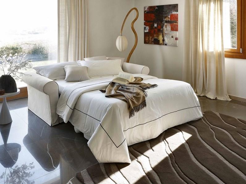 Divano letto in tessuto lecomfort a prezzo ribassato - Divano letto a scomparsa prezzo ...