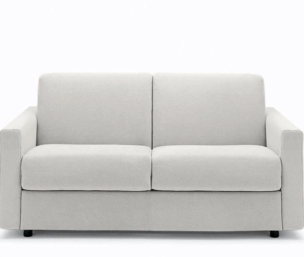 Divano letto bianco sfoderabile design casa creativa e for Pouf letto conforama