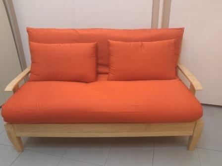 Divano letto legno massello divani a prezzi scontati - Divano letto doghe in legno ...