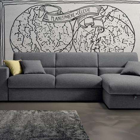 Divano letto samoa con penisola contenitore 30 divani - Divano letto con penisola prezzi ...
