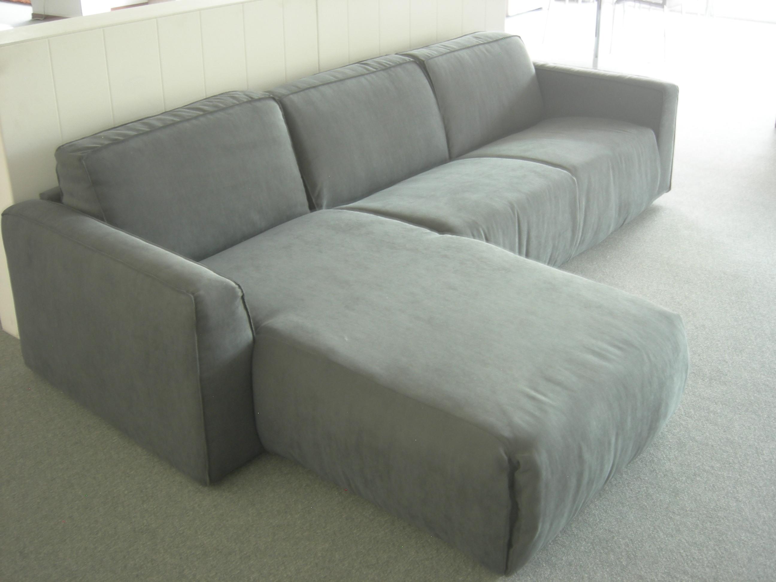 Divano letto skipper con penisola di de angeli divani a - Microfibra divano ...