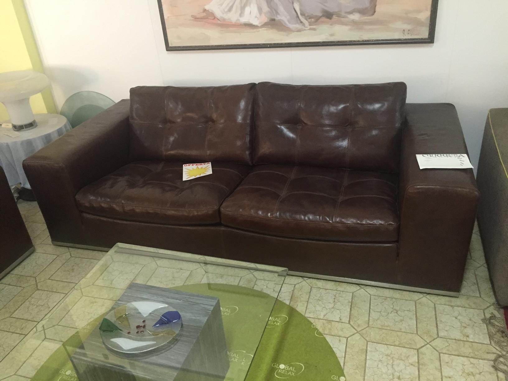 Divano Cuoio Moderno : Divano marzi in pelle cuoio sottocosto divani a prezzi