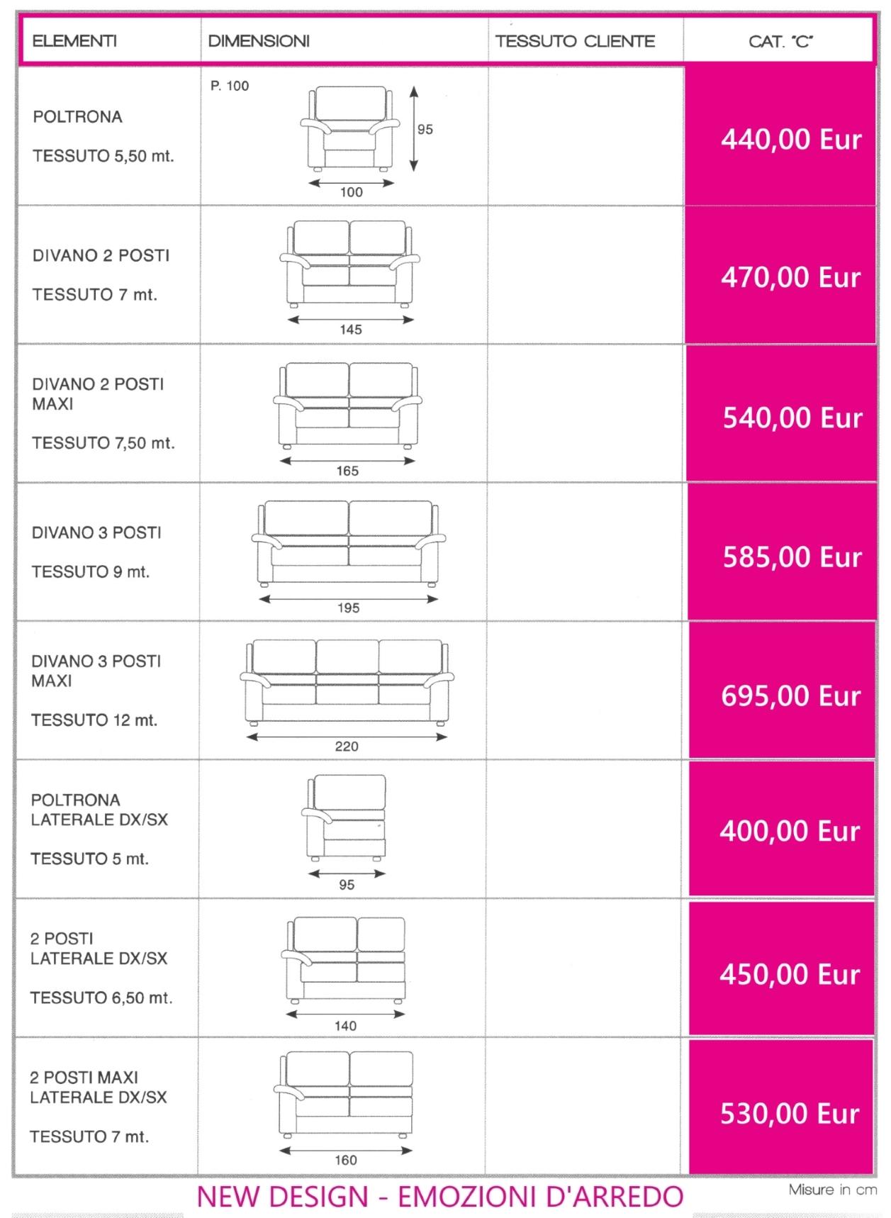 Divano maxim 3 posti con chaise longue divani a prezzi for Dimensioni divano 2 posti