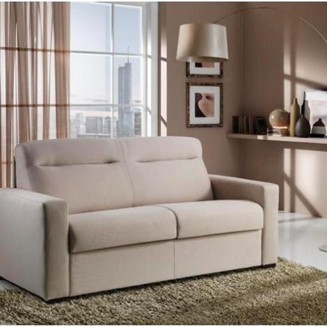 Divano moderno con schienale alto con letto estraibile materasso in memory divani a prezzi - Divano letto con materasso alto ...