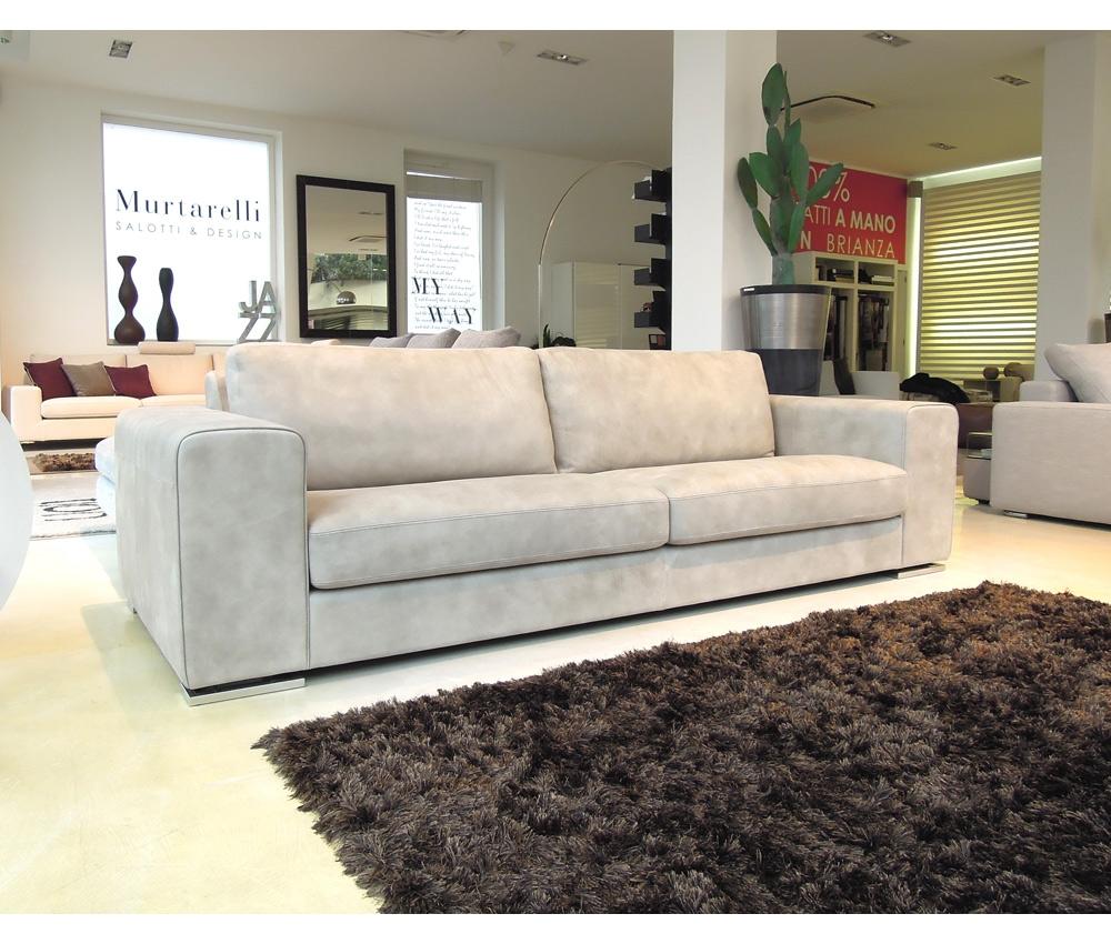 Maxi divano rivestito in nabuk colore tortora divani a for Divano color tortora