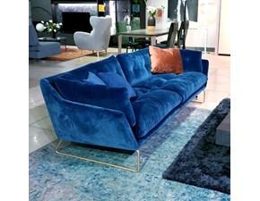 Divano New york suite velluto blu elettrico Saba: SCONTO ESCLUSIVO