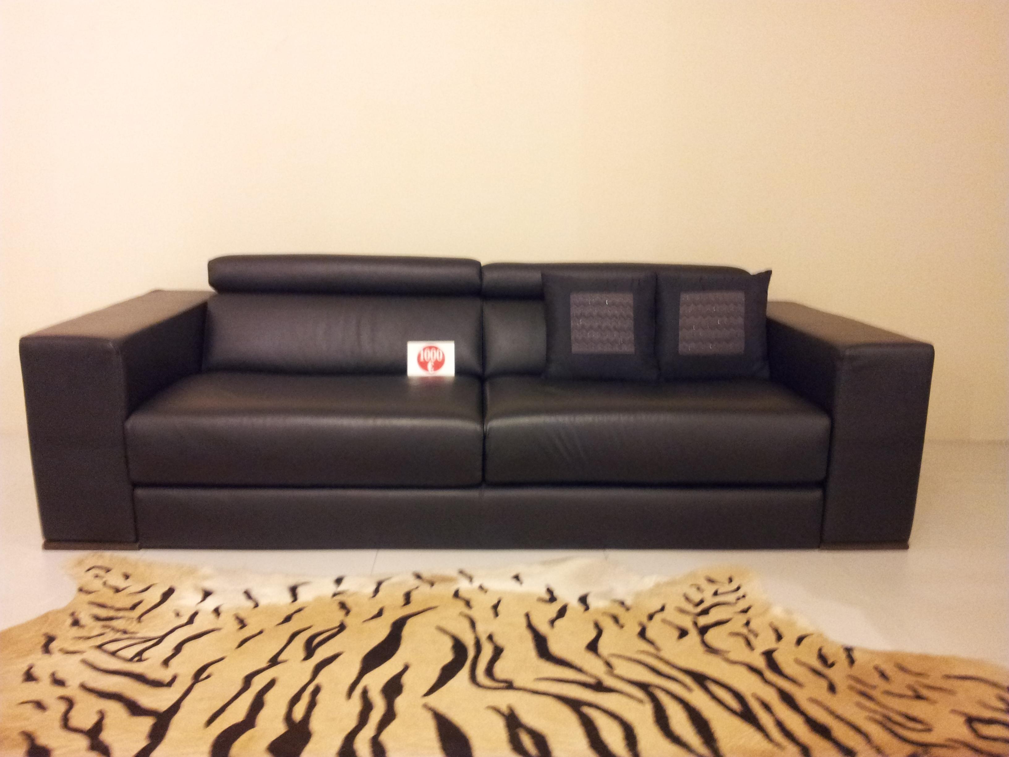 divano occasione - divani a prezzi scontati - Divano In Pelle Nera Letto